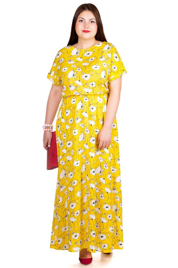 Платье БР Clara2 Маки на желтом