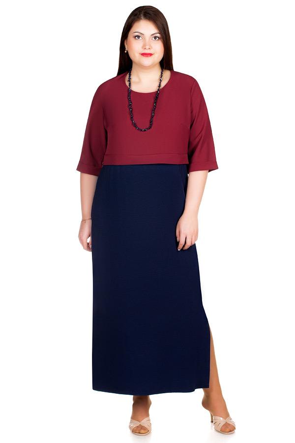 Платье БР Hannah Бордо+Темно-синий