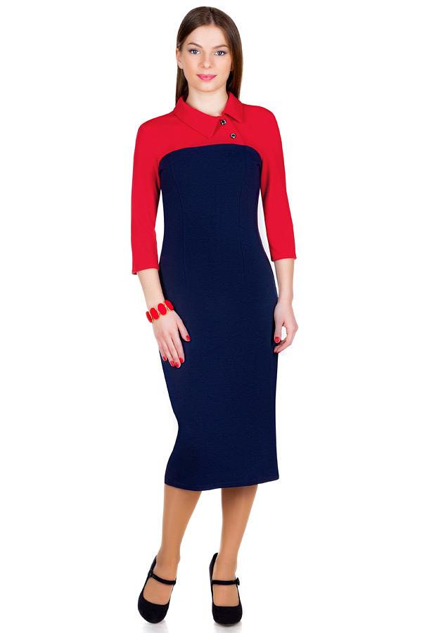 Платье МР Orlana Красный+темно-синий