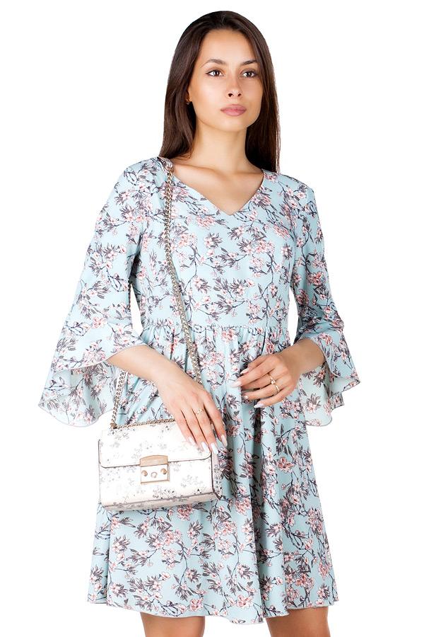 Платье МР Regan Цветы на бирюзе