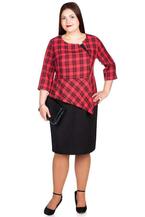 Платье БР Beatrice Красный+Черный