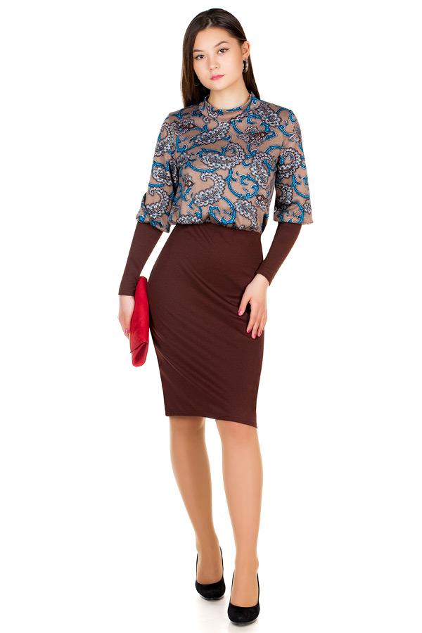Платье МР Lusina Темно-коричневый