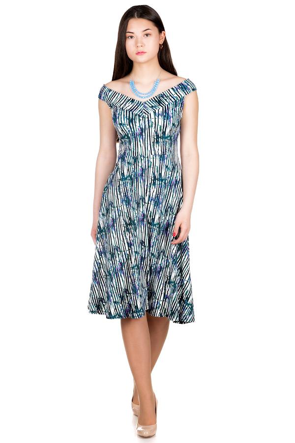Платье МР Lulu Полоска+Ирисы