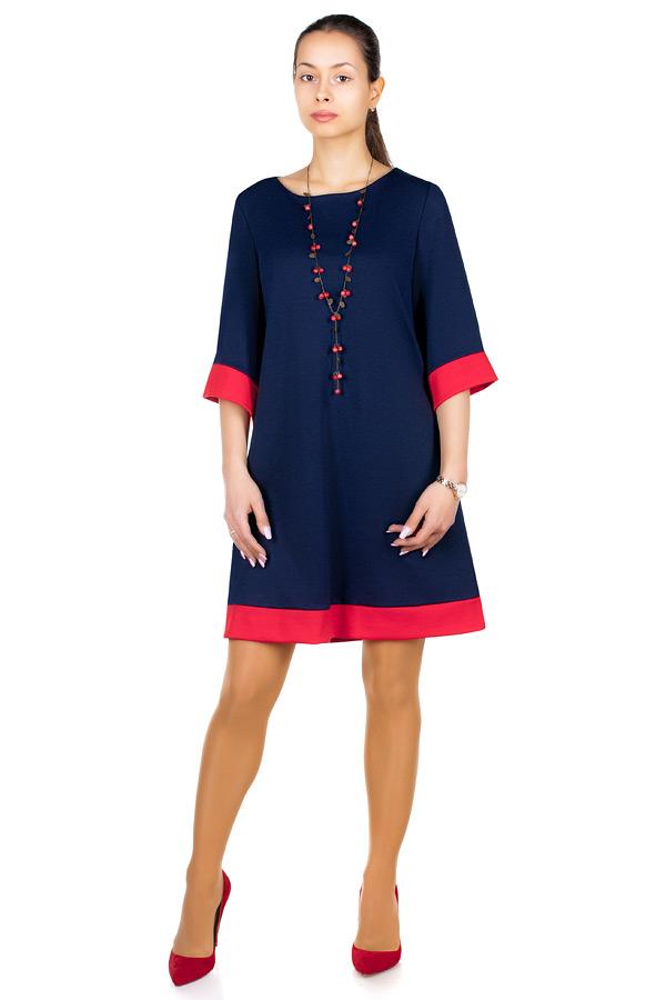 Платье МР Mayra Темно-синий+Красный