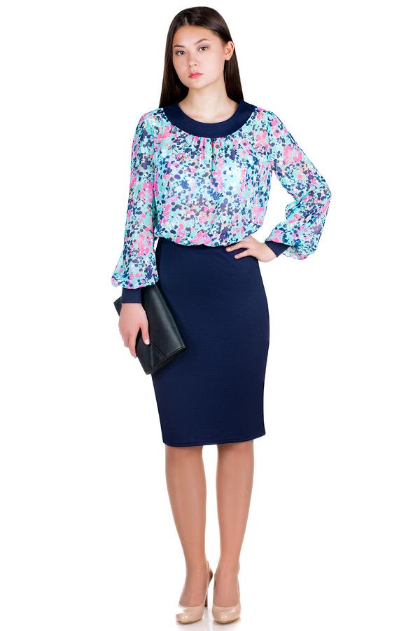 Платье МР Alta Мята+Темно-синий