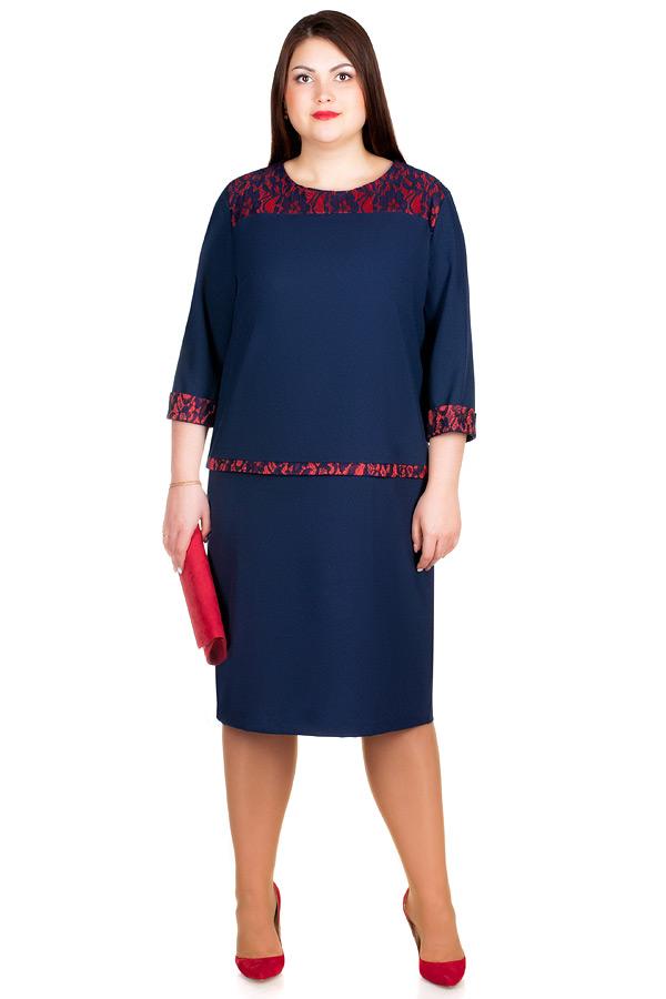 Платье БР Veta Темно-синий+Красный