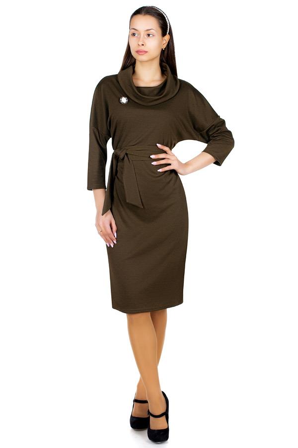 Платье МР Leonor Темный хаки