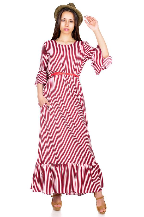 Платье МР Meidi Полоска бордо