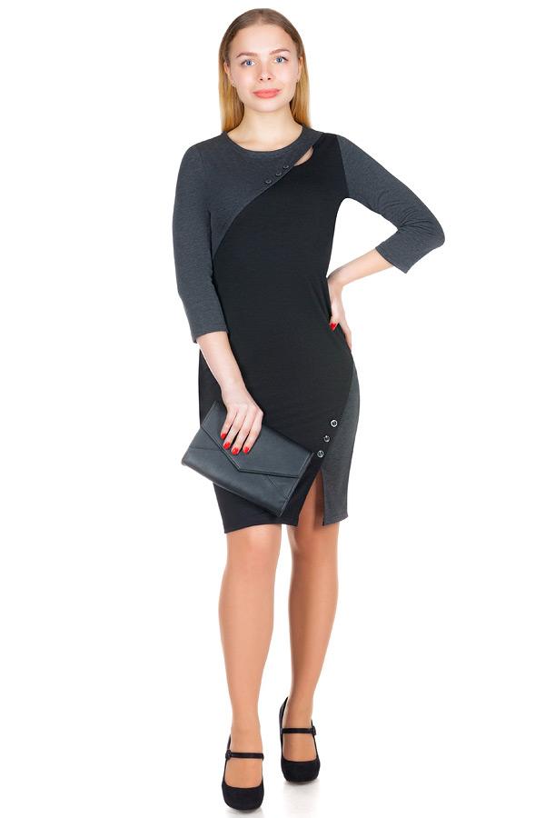 Платье МР Avita Серый+Черный