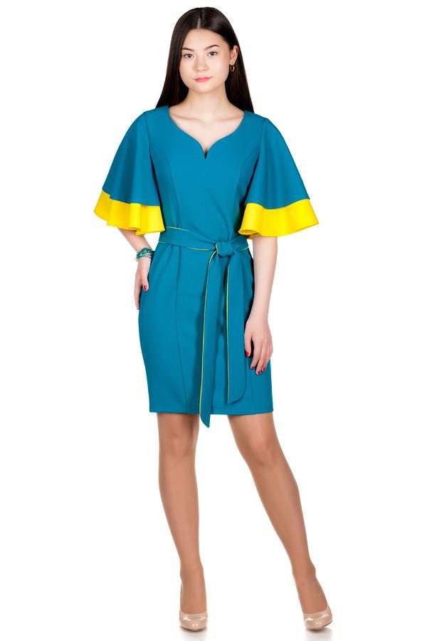 Платье МР Ancona Бирюза+Желтый