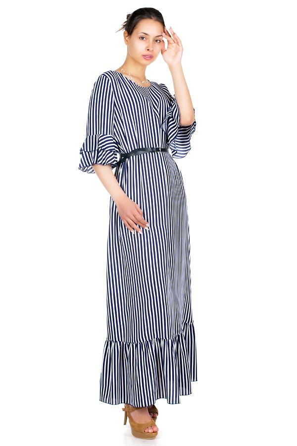 Платье МР Meidi Полоска темно-синий