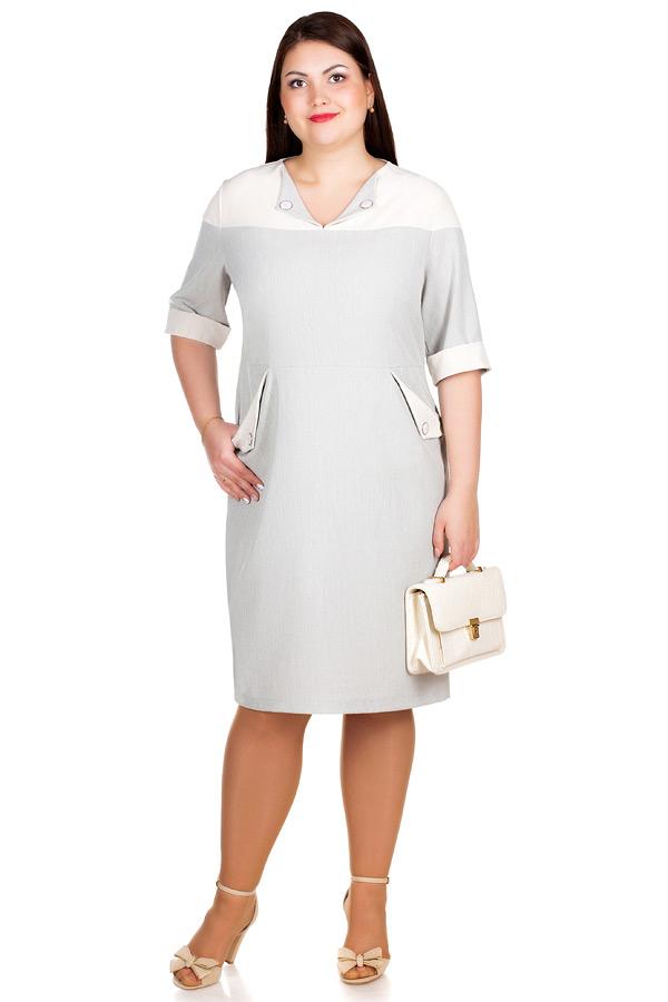 Платье БР Mercedes Серо-бежевый