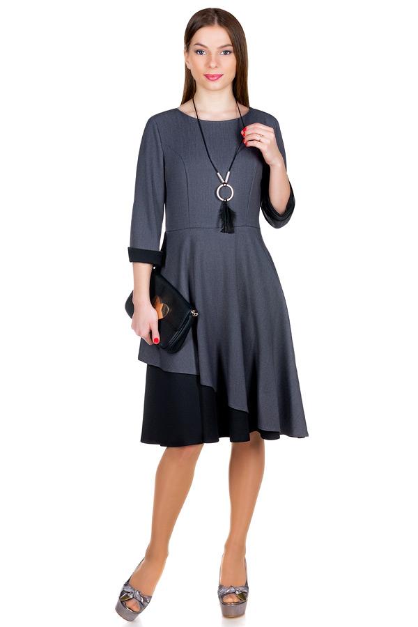 Платье МР Merfi Серый+Черный