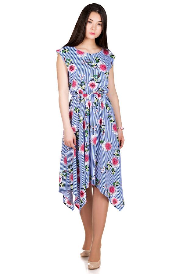 Платье МР Paloma Астры на полоске