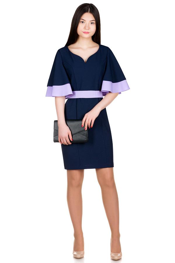 Платье МР Ancona Темно-синий+Сирень