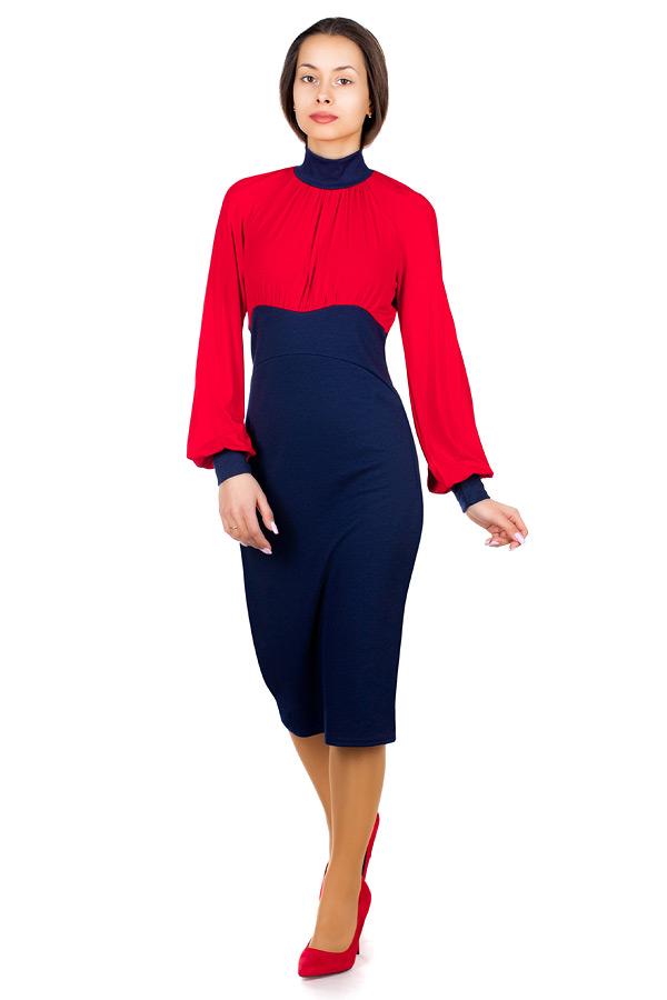 Платье МР Tasita Красный+Темно-синий