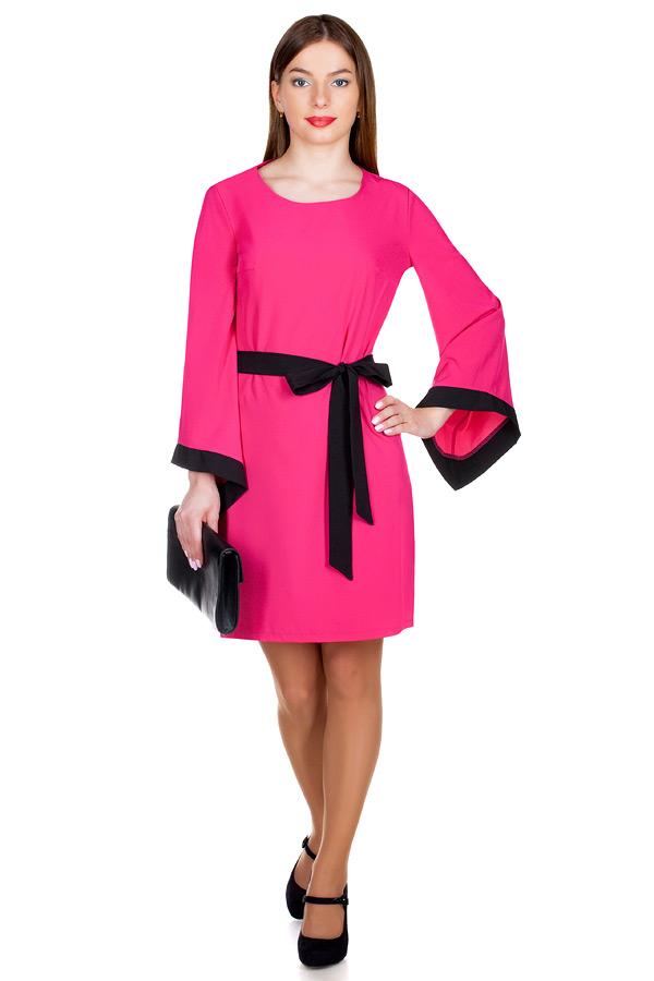 Платье МР Finel Малина+Черный