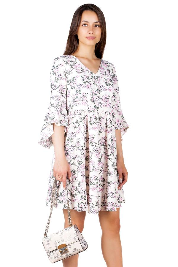 Платье МР Regan Цветы на молочном
