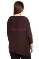 Туника БР Amy Темно-коричневый + светло-коричневый